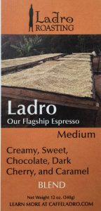 Caffe Ladro Espresso label learn coffee flavor variables