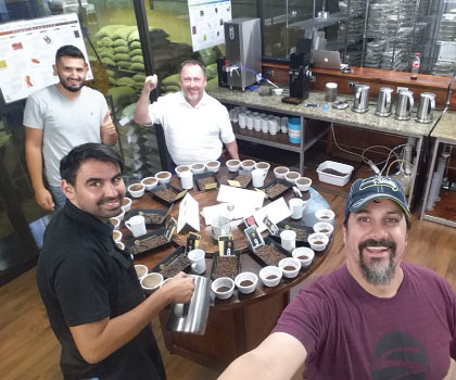 Costa Rica 2016 Caffe Ladro and Ladro Roasting Coffee Buying trip cupping coffees at Exclusive coffees