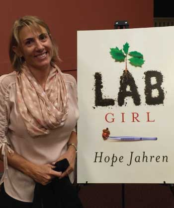 Ladro Virtual Book Club features Hope Jahren's Lab Girl for May 2016