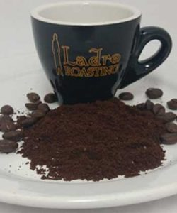 Example of Fine Ground Ladro Coffee to Help you Choose Your Coffee Grind