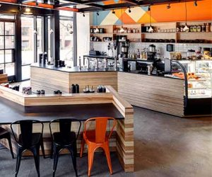 400 Fairview Caffe Ladro South Lake Union features modern architecture using sustainable materials