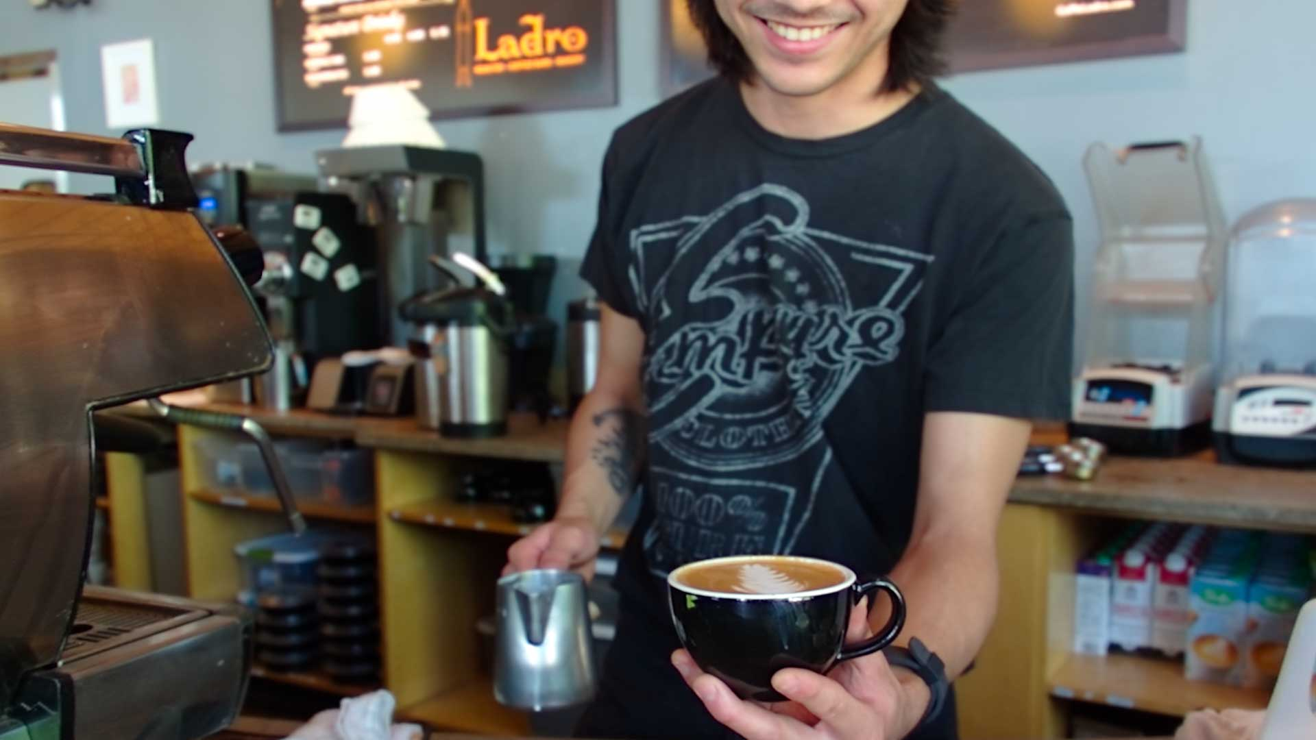 We're happy to fulfill Donations Request for your organization as evidenced by a smiling barista offering a coffee