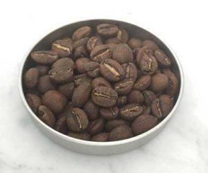 Coffee Roasting sample of light roast coffee sample in tin from caffe ladro ladro roasting
