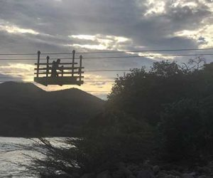 Hand powered bridges let locals and visitors to Peru traverse rivers.