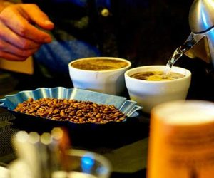 Seattle coffee roaster, Ladro Roasting uses a process called cupping to sample different coffees and roast levels