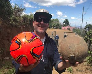 New Soccer Balls for Kids in El Salvador from Caffe Ladro