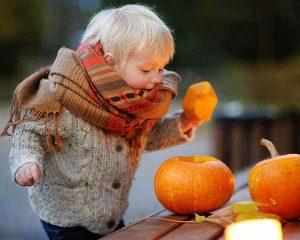 Pumpkin Kid at Upper Queen Anne celebrating Seattle Halloween