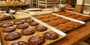 Ladro Bakery cookies with other baked items in the background