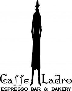 Original Caffe Ladro logo witih Ladro Man