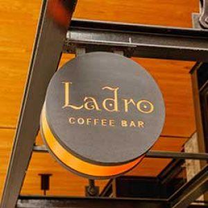 Ladro Coffee Bar sign
